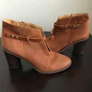 Franco Sarto Elvis Whiskey Leather Ankle Booties